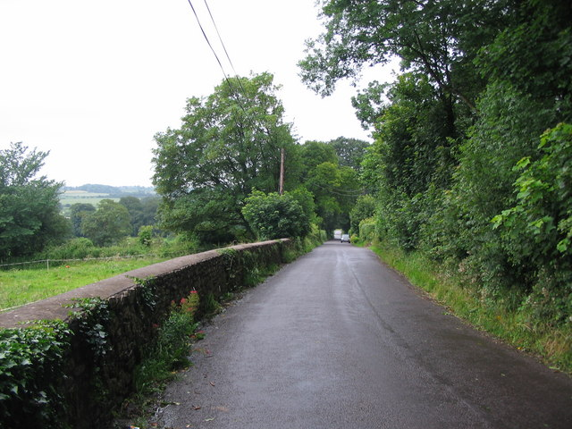 Looking down Slait Hill