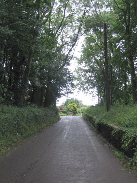 Looking up Slait Hill