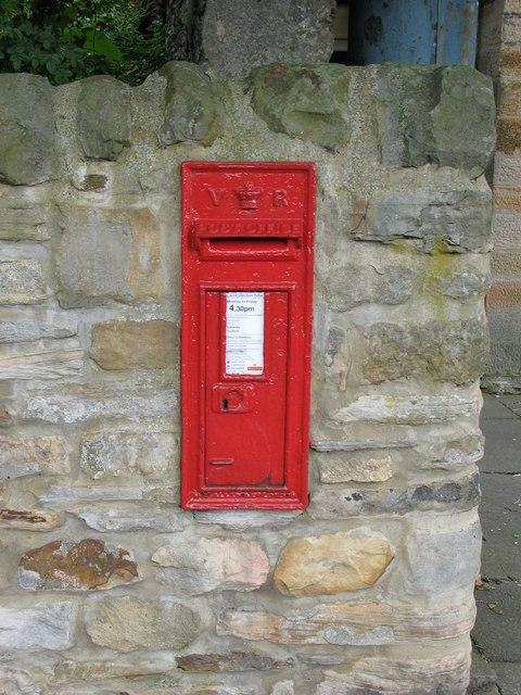 Victorian postbox in Haydon Bridge