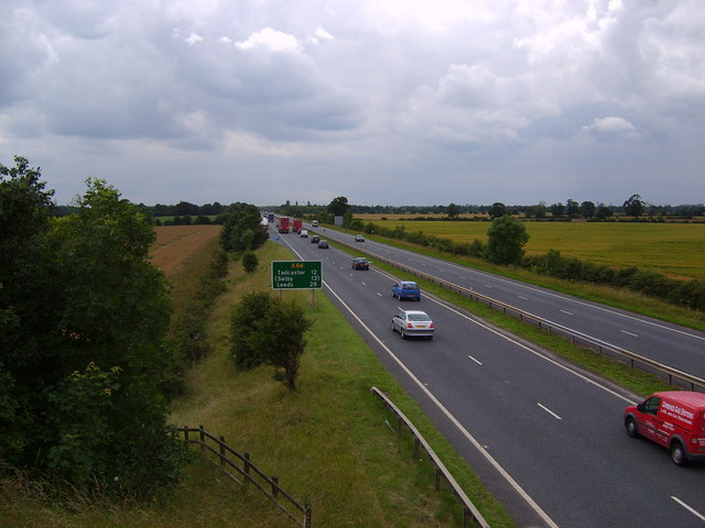 The A64 from Flyover