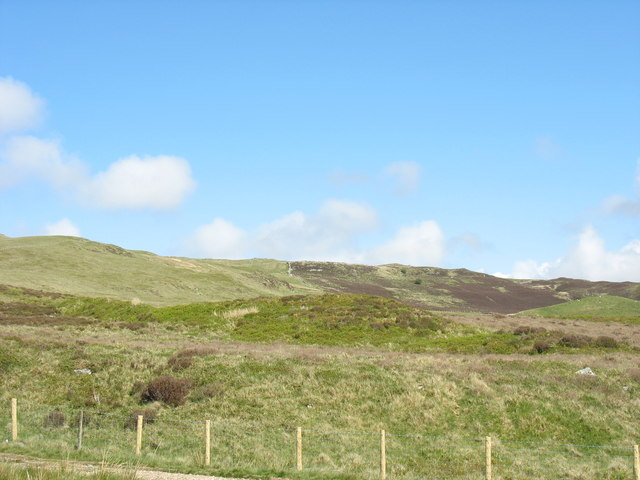 View across more practice camps in the direction of the lower slopes of Moel y Croesau