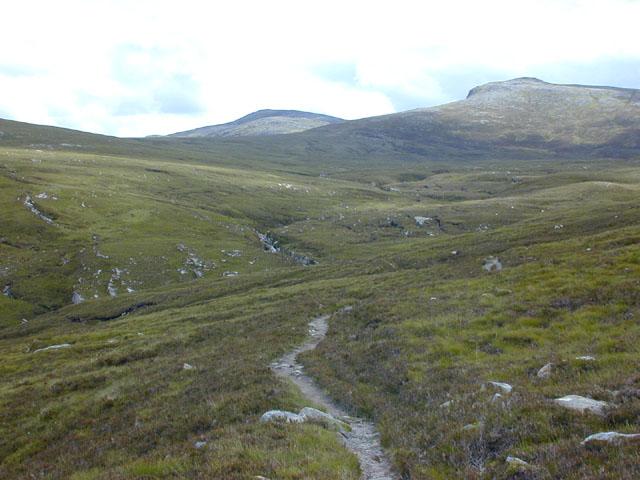 The crossing of the Allt Gleann a' Mhadaidh