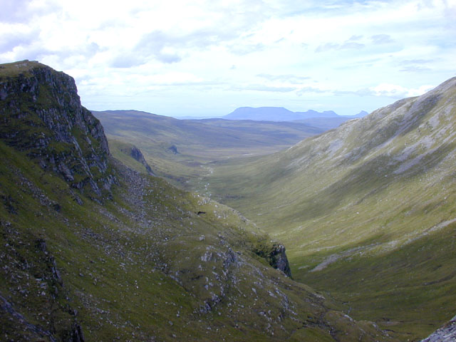 View looking down the Cadha Dearg