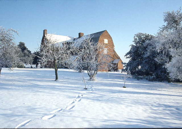 Kings Hill Farmhouse in the Snow