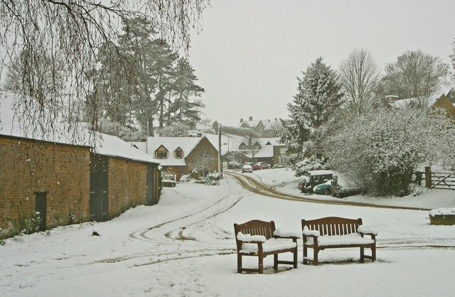 Balscote (or Balscott) in the Snow
