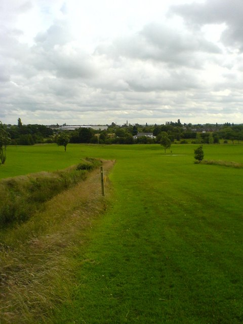 Looking towards Alder Lane from Hart Common Golf Course