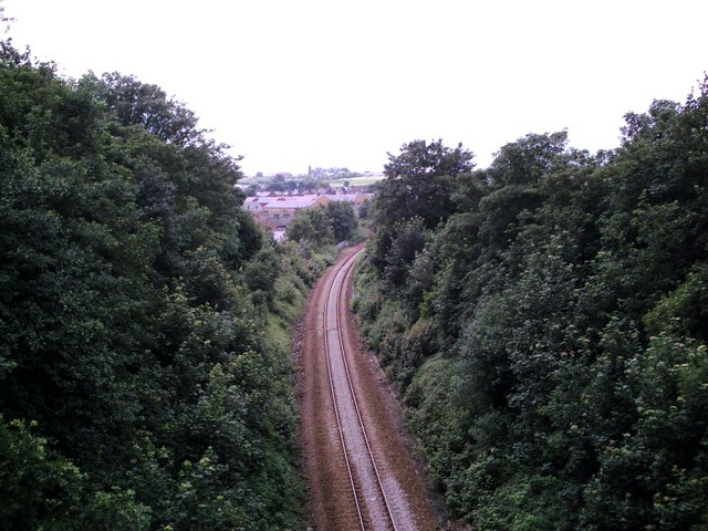 Barnsley - Penistone Line from Gawber Road Bridge