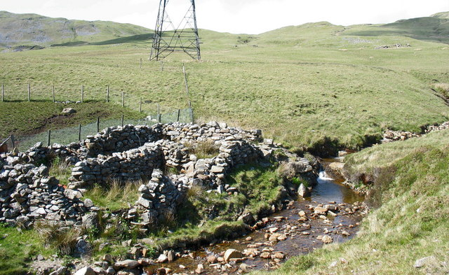 An old sheepfold by Afon Llafar