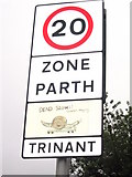 SO2000 : Trinant Village sign with snail by Jessica Aidley