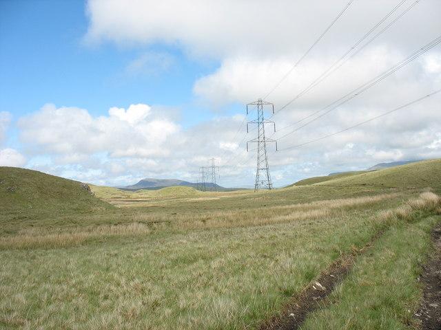 Pylons at Bwlch y Llu