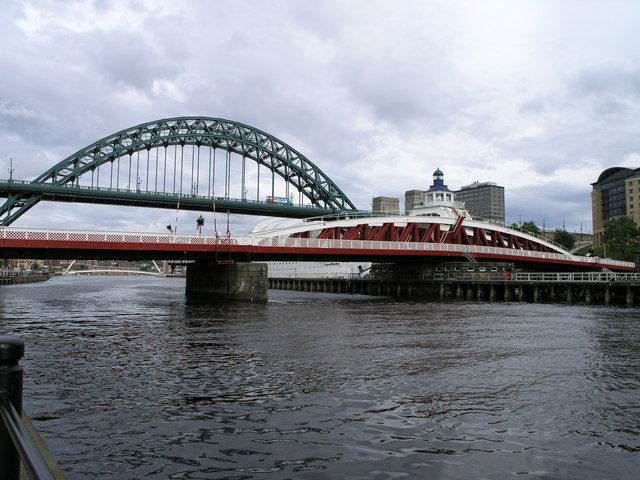 Tyne Bridge and Swing Bridge