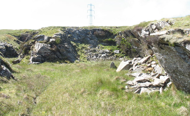The 'mouth' of the Conglog Quarry