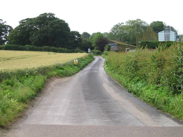 View along Crooked S Road towards Ripple Farm