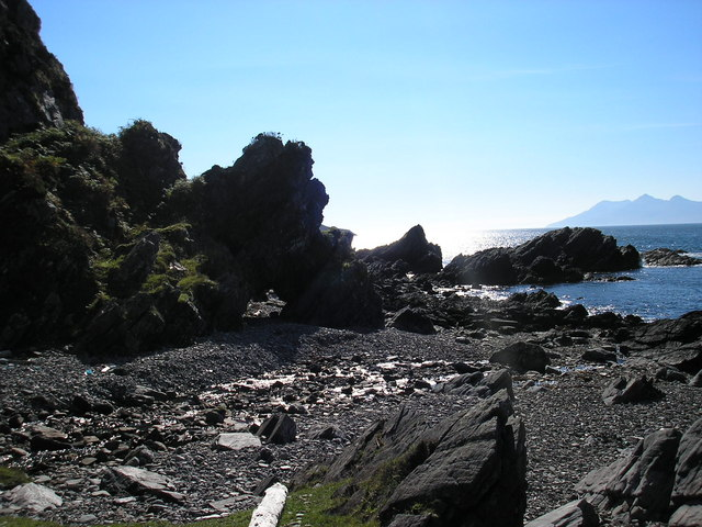 Beach, round from Inver Dalavil