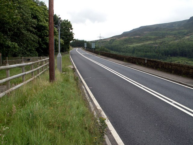 A628 Crowden looking to Barnsley