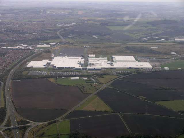 Nissan Motor Works from the Air