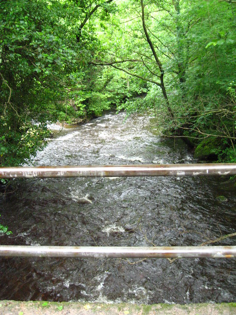 Sirhowy  River seen from bridge.