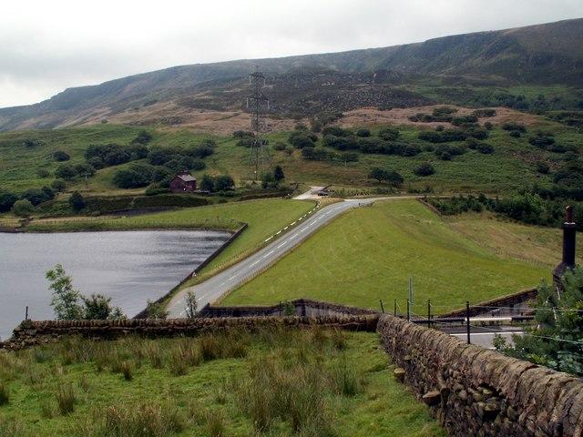 Woodhead Reservoir Dam head