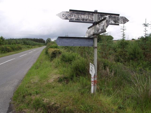 Junction near Hallmuir