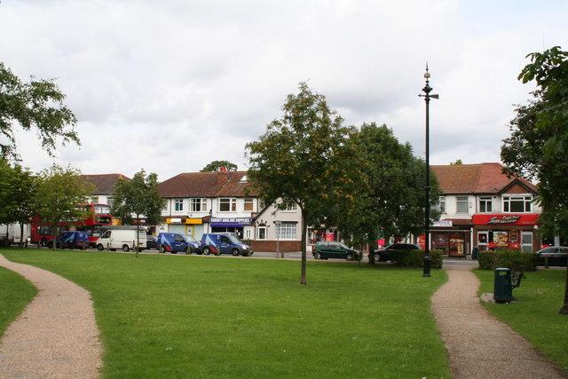 Shopping parade opposite Wrythe Green, Carshalton