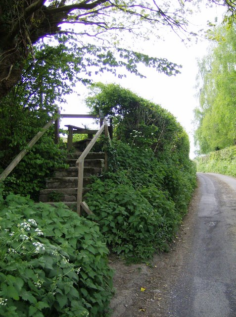 Up to the footpath