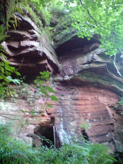 Sandstone Cave in Hayton Woods