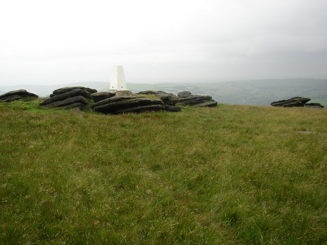 Triangulation Pillar, Broadstone Hill, Saddleworth