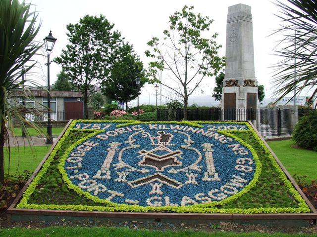 Flower bed at Port Glasgow