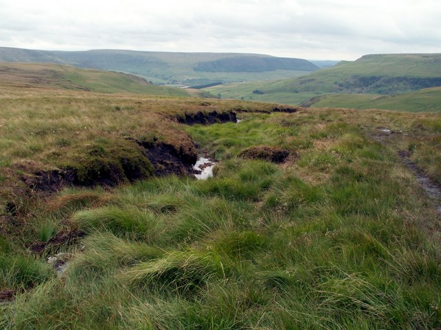 A watercourse on Hey Moss