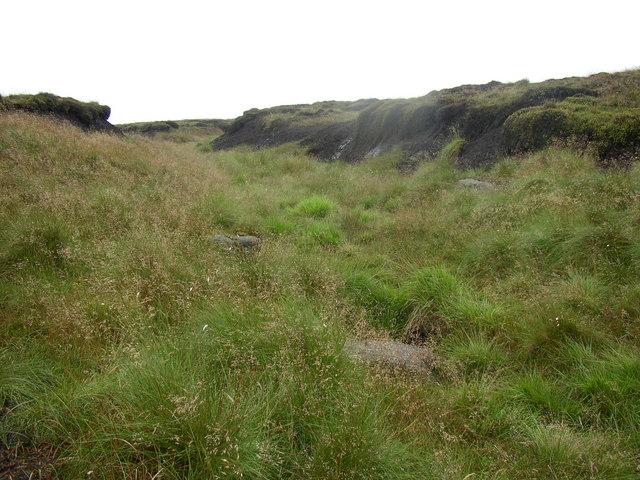Disused track, Broadstone Hill, Saddleworth