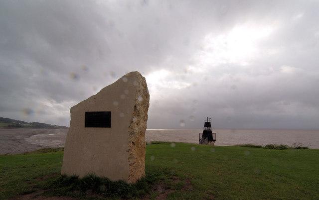 Memorial Battery Point in rain.