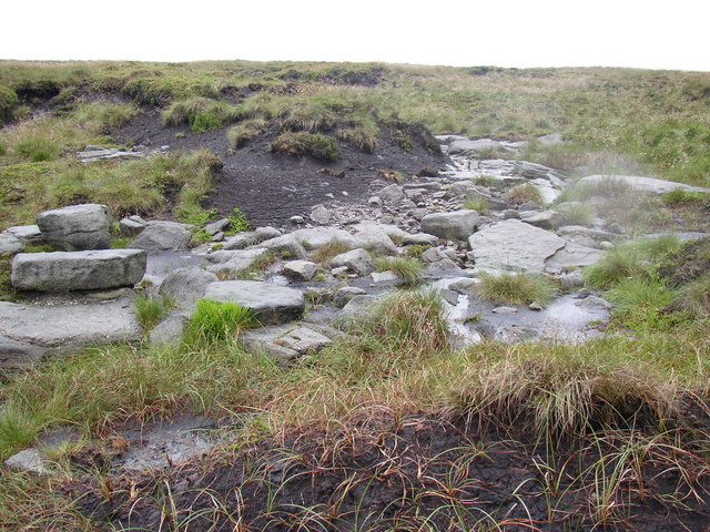 Rocks under the peat layer, Saddleworth
