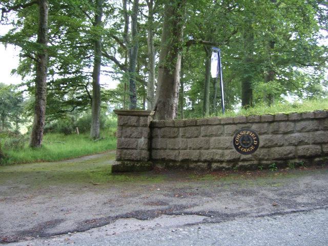 Access to Corsefield Lodge.