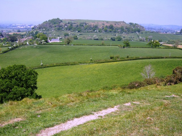 Cadbury Castle from Parrock Hill