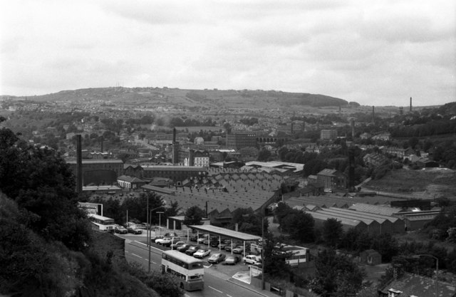 """Milnsbridge from the """"Pinfold"""""""