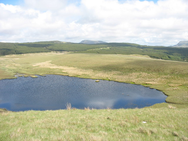 View towards the outlet of Llyn Cors-y-barcud