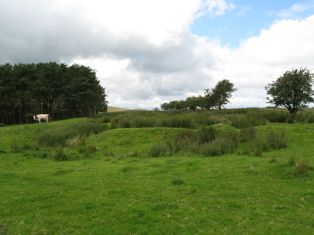 Vestiges of an ancient settlement near Ravenshaugh