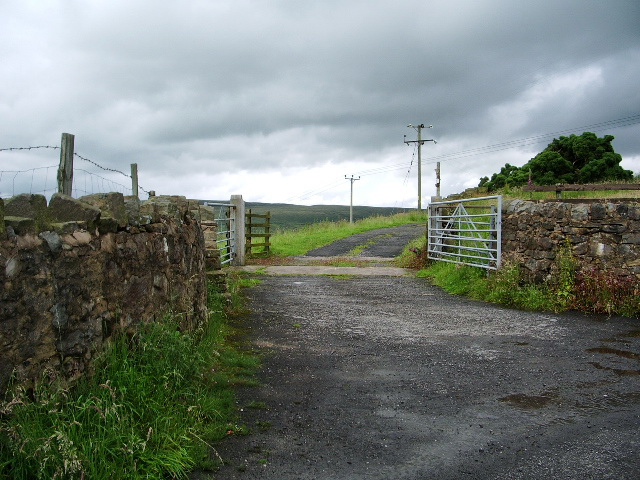The road to Whittakers Farm