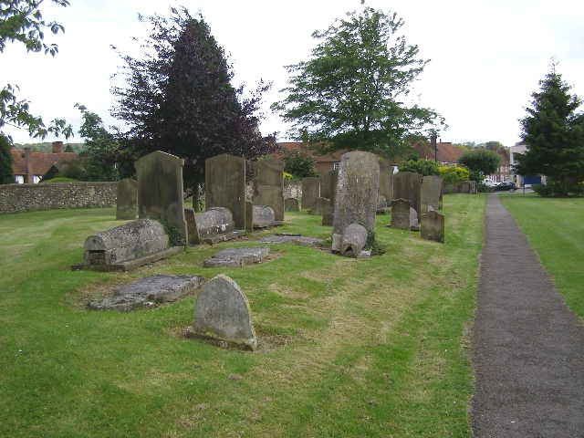 Ancient grave stones, St Mary's churchyard