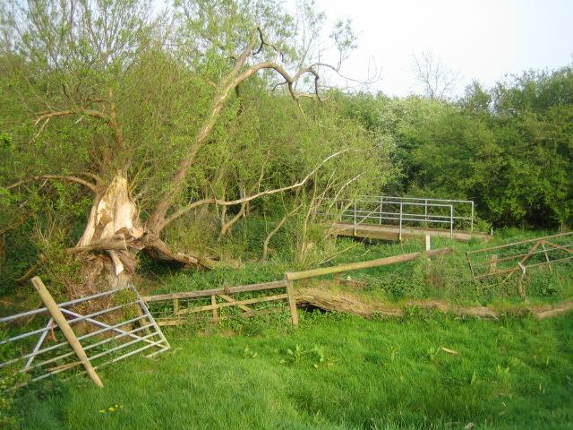 Footbridge near Prune Farm Cottages, Greatmoor