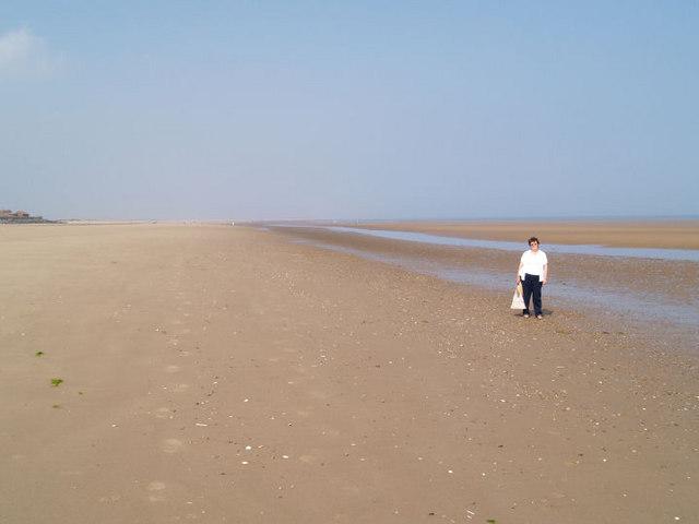 Big blue skies, Brancaster beach.