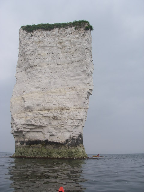 Sea kayaker's view of Old Harry