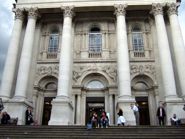 On the steps of Tate Britain