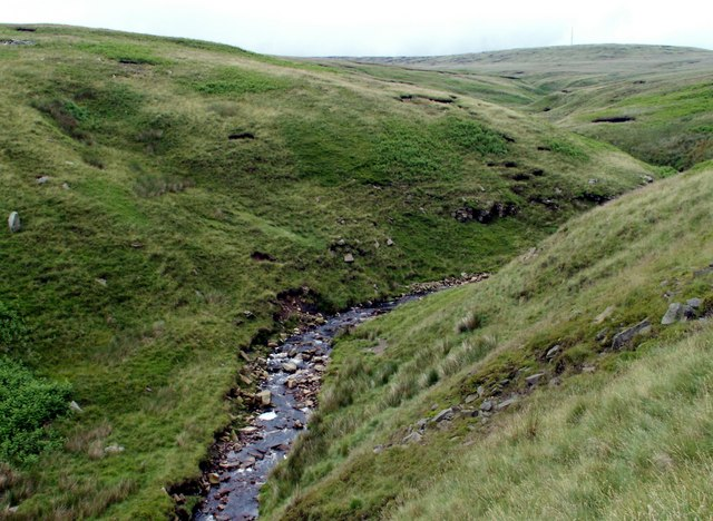 Crowden Little Brook looking to Holme Moss
