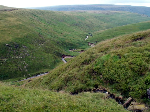 Crowden Little Brook from Wiggin Clough