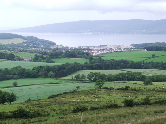 Inverkip and the Clyde from Greenock Cut