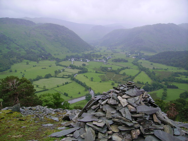 Rosthwaite from Castle Crag