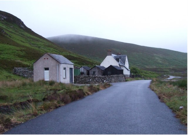 Glen House by source of Golspie Burn
