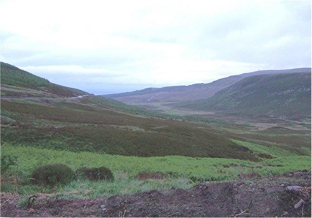 View down Dunrobin Glen