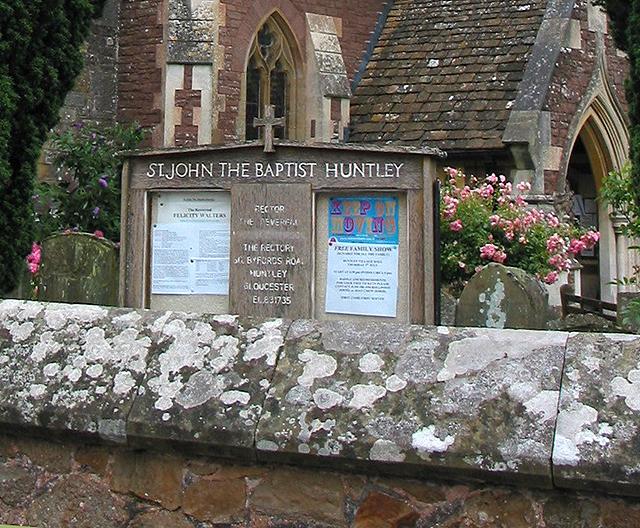 Notice board St.John the Baptist's Church
